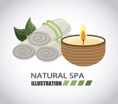 Natural spa design — Stock Vector