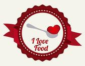 любовная еда — Cтоковый вектор
