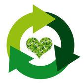 Miljömärke — Stockvektor