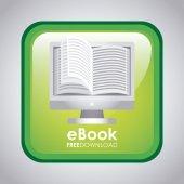 Electronic book design — Stock Vector