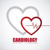 Cardiology icon — ストックベクタ