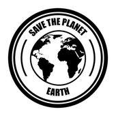 De planeet te redden — Stockvector