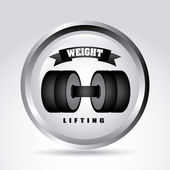 Weight lifting — Stock Vector
