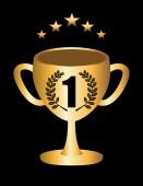 Trophy gold — Stock Vector