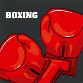 Boxning sport — Stockvektor
