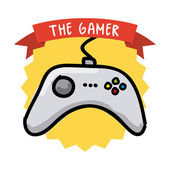 Gamer icon — Stock Vector
