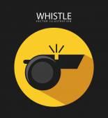Whistle icon — Stock Vector