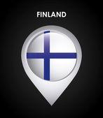 Finland flag — Stock Vector