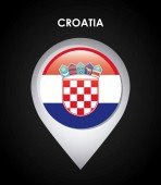 Croatia flag — Stock Vector