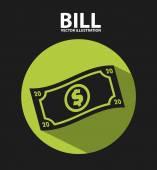 Bill icon — Stock Vector