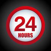 24 ore — Vettoriale Stock