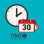 Time design over whitlue e background vector illustration — Stock Vector