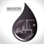 Industry design over white background vector illustration — Stock Vector