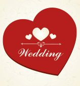 Wedding design over white background vector illustration — Stock Vector