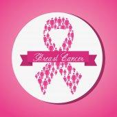 Cancer design over pink background vector illustration — Stock Vector