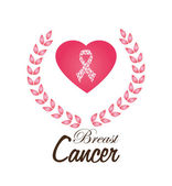 Cancer design over white background vector illustration — Stock Vector