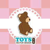 Toys design over pink background vector illustration — Stock Vector