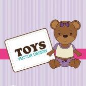 Toys design over purple background vector illustration — Stock Vector