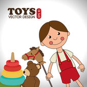 Toys design over white background vector illustration — Stock Vector