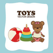 Toys design over blue background vector illustration — Stock Vector
