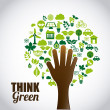 Think green — Stock Vector #61600179
