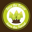 Save the forest — Stock Vector #61600291