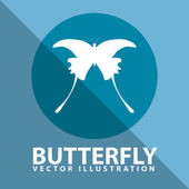 Butterfly icon design — Stock Vector