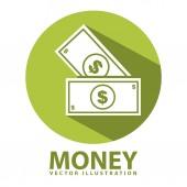 Ikona pieniądze — Wektor stockowy