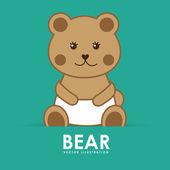 Bear cute — Stock Vector