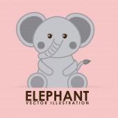 Elephant cute — Wektor stockowy
