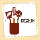 ícone da cozinha — Vetor de Stock