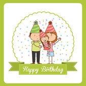 Happy birthday — Vetor de Stock