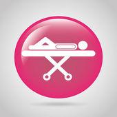 Medical button — Stock Vector
