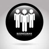 Diseño de empresario — Vector de stock