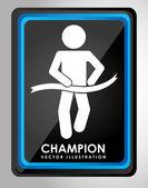 Champion design — Stock Vector