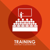 Training icon — Vector de stock