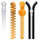 Zipper design, vector illustration. — Vecteur
