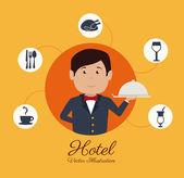 Hotel design, vector illustration. — Stock Vector