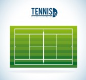 Tennis design, vector illustration. — Stock Vector