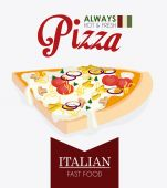 Pizza design, vector illustration. — Stok Vektör
