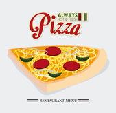 Pizza design, vektor illustration. — Stockvektor