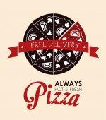Pizza design, vector illustration. — Wektor stockowy