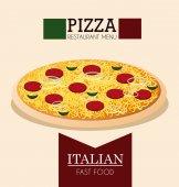 Pizza design, vector illustration. — Stock Vector