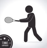 テニス デザイン、ベクトル イラスト. — ストックベクタ