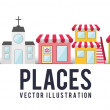Places — Stock Vector #61828659