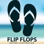 Flip flops — Stock Vector #61829627
