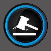 Justice icon design — Stock Vector