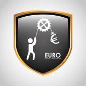 Euro icon — Stock Vector