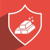 Gold icon design — Stock Vector
