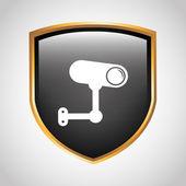 Security icon design — Vector de stock